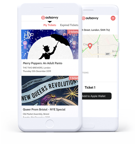 OutSavvy App for iOS and Android